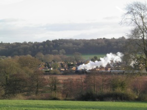 Steam excursion on the North Downs Line