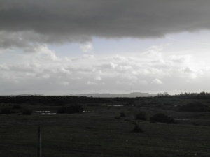 View to the North Downs from Greenham Common