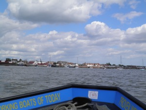 Approaching Burnham by ferry