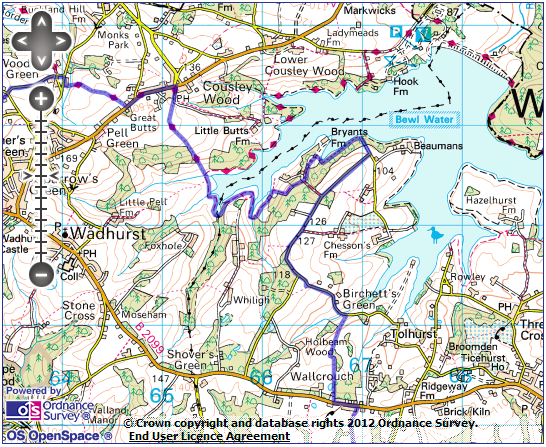 Bewl Water Map Bewl Water & the High Weald | Out of the LOOP Bewl Water Map