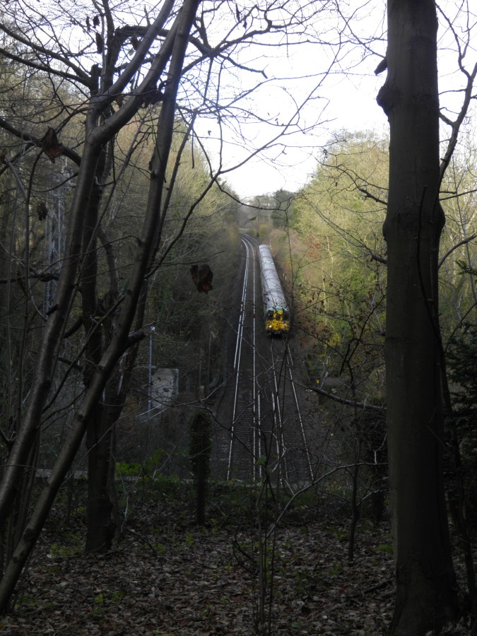 Over the railway tunnel