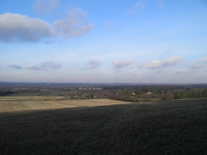 Wanborough from the Hog's Back