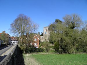 Yalding church from Town Bridge