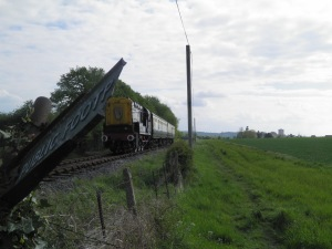 C&W train near Cholsey church
