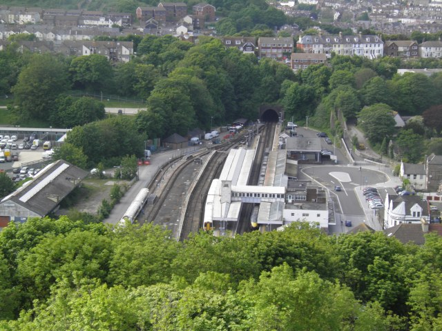 Dover Priory station, from Western Heights