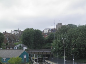 Lewes Castle from the station